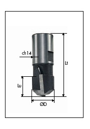 631 Milling cutters for slot-mortisers