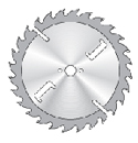 1230 Special circular saw blades with the application of HM on the cooling slots