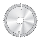 1250 Middle thick blades supplied with limiting device